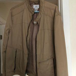 Armani Exchange motorcycle style jacket